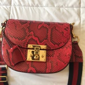 Gucci Red python bag